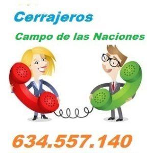 Telefono de la empresa cerrajeros Campo de las Naciones